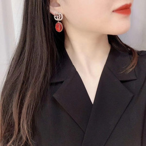 Hot sale Drop earring with black and white color in gold plated women wedding jewelry gift free shipping PS4494