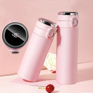 Wholesale cups measurement resale online - Stainless Steel Thermal Cups Vacuum Flask Intelligent Temperature Measurement Bounce Cups Portable Students Thermos Bottle Cups VT1695