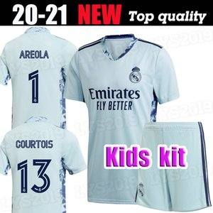 оранжевые наборы оптовых-Kids Kit Real Madrid Horthinger Blue Soccer Technys Orange Hudthois Boys Boys Голодей Футбольная рубашка Ареола Футбольная форма
