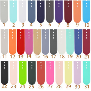 Wholesale watches silicone colors resale online - Soft Silicone Strap Watch Band Dual Colors for Watch Series MM MM MM MM