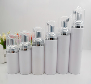 10pcs lot 30ml 60ml 80ml 100ml Mini Plastic Foaming Liquid Soap Dispenser silver Pump Bottles Travel empty foam pump bottle T200819