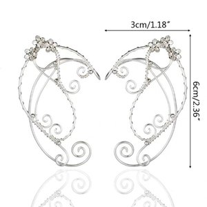 elf ohren großhandel-Elf Ear Cuffs Ohrclips Filigree Fee Verpackungs Ohrring Elven Cosplay