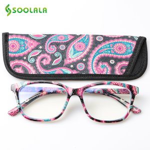 Wholesale blue light filter for sale - Group buy SOOLALA Printed Anti Blue Light Blocking Filter Glasses Women Eye Protection Computer Glasses Optical Frame Prescription