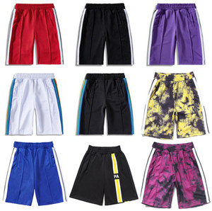 Wholesale tree man for sale - Group buy 20SS Palm tree letter printing rainbow strip webbing casual five point Man pants Designer Shorts Beach Shorts