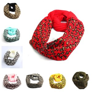 Wholesale leopard print cotton scarves for sale - Group buy INS Trendy Knitted Scarf Men Women Crochet Neck Gaiter Leopard Print Scarves Autumn Winter Wool Warm Knitted Scarf Neckerchief color D92404