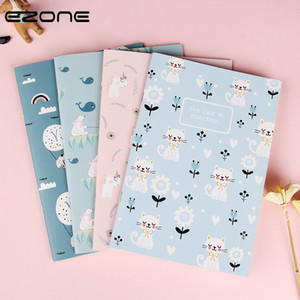 Wholesale small memo pads for sale - Group buy EZONE PC A5 CartoonTheme Notebook Diary Book Line Pages Students Memo Pad Stationery Notepad Small Gifts School Office Supply C0924
