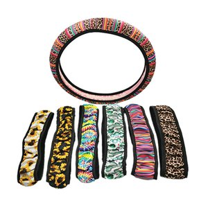 Cute and Fashionable Sunflower Steering Wheel Cover Universal Car Steering Wheel Cover Leopard, Cactus, Neoprene Car Accessories