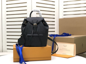 MONTSOURIS BACKPACK Man Women backpacks M45205 Montsouris genuine leather backpack embossed flower pattern backpack real leather Handbag