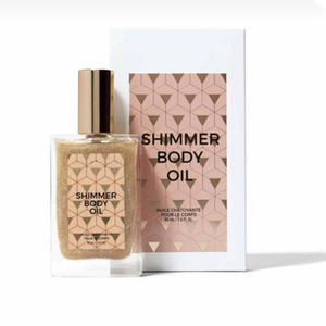 Brand New Cosmetics Shimmer Body Oil 50ML Face Glitter Highlight Liquid Oiled Primer Makeup Body Glow and Moisturized Skin Care Free Ship
