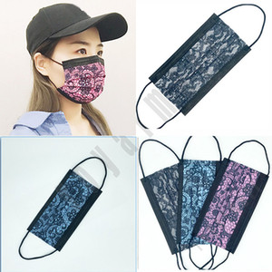 Wholesale designer laces resale online - Creativity Adult Lace Disposable Face Mask Fashion Disposable Face Mask Bag Anti Dust Protective Mask DHl Free Shippin