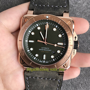 Wholesale brass instruments for sale - Group buy ZW Quality INSTRUMENTS BR DIVER BR0392 CAMO CE SRB Green Dial Japan Miyota Automatic Mens Watch Bronze Case Leather Sport Watches