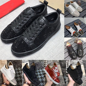 Wholesale unisex shoes for sale for sale - Group buy 2020 Hot Sale Red Bottom Low Cut Spikes Flats Shoes For Men Women Leather Sneakers Casual Shoes With Dust Bag