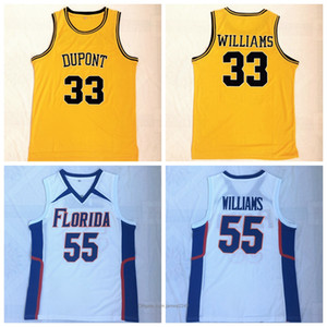 florida gators basketball großhandel-Top Qualität der Männer NCAA Florida Gators College Williams Basketball Jason Jersey DuPont High School Williams genähtes Shirts Weiß