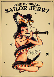 Wholesale snake oil resale online - Sailor Jerry Tattoo Vintage girl and snake Oil Painting On Canvas Wall Art Canvas Pictures For Living Room Wall Decor
