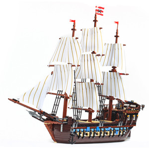 In stock 10210 1664Pcs Pirate ship movie Series Imperial Flagship Building Blocks Bricks Kids Toys Christmas gift 22001 39010