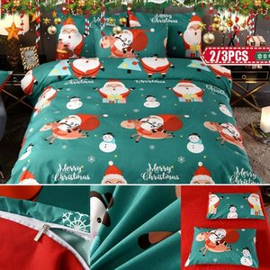 Wholesale christmas bedding for sale - Group buy 2 Set D Printing Duvet Cover Quilt Cover Pillowcase Set Christmas Style Bedding Set Quilt Pillowcase