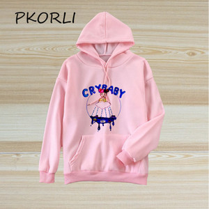 Wholesale cry baby for sale - Group buy Harajuku Cry Baby Hoodie Women Melanie Martinez Print Sweatshirt Casual Pullover Tumblr Polerone Winter Clothes Korean Tops MX200812