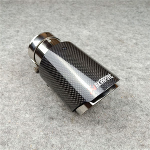 Wholesale Car Styling Escape Akrapovic Muffler Pipe, Glossy Carbon Exhaust Tips & Universal Exhausts End Pipes