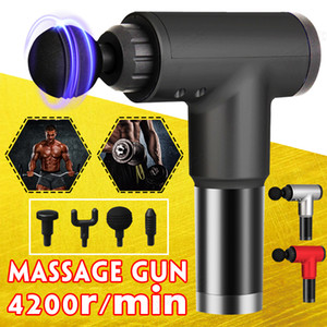 мышечная боль оптовых-4200R Min Mini Body Muscle Therapy Sport Massage Guns Electric Booster Vibration Pibration Massager Главная Глубокая Ткань Боли