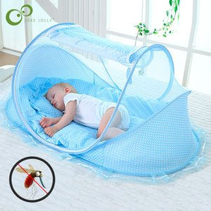 Wholesale portable cribs resale online - Crib Portable Foldable Baby Mosquito Net Polyester Newborn Sleep Travel Bed Netting Play Tent Children Gyh1