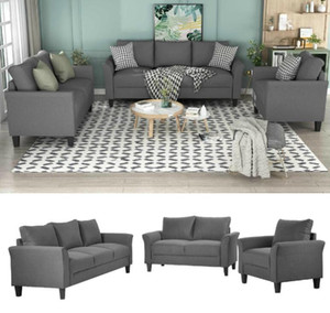 Wholesale living room furniture pieces resale online - US Stock days Delivery U_STYLE Polyester blend Pieces Sofa Set Living Room Set Living Room Furniture WY000036EAA