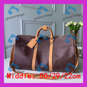 Wholesale vintage leather knitting bag resale online - duffle bag luggage bag duffel High Capacity large capacity baggage waterproof handbag Casual Travel Bags Vintage classics