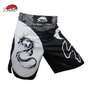 mma boxen muay thailändische shorts großhandel-SUOTF MMA Drachen Boxen herrschsüchtig Film Baumwolle lose Größe Training Muay Thai Shorts Boxen mma Shorts Kickbox
