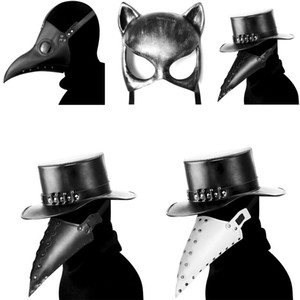 masque peste achat en gros de-news_sitemap_homeRespirant mascarade masque Rivet Halloween Costume Masque horrible Cos Peste Beak Doctor Mask Festival Party Supplies cosplay accessoires VT1494