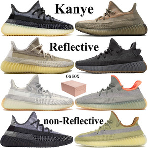 New Kanye Desert Sage Reflective Tail Light Designer Running Shoes Asriel zyon earth oreo yecheil black static mens womens sneakers with box
