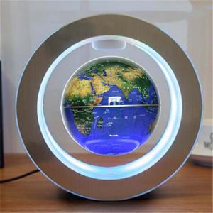 Novelty Round LED World Map Floating Globe Magnetic Levitation Light Antigravity Magic Novel Lamp Birthday Home Dec Night Lamp