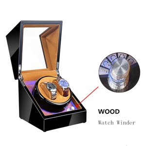 Wholesale watch winders resale online - New Wood Watch Winders Black Automatic Self Watch Winder For Mechanical Watches Fashion Watch Storage Organizer Holder CX200807
