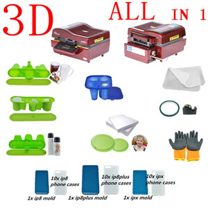 Wholesale 3d printers machine resale online - ALL IN ONE ST D Vacuum Heat Press Machine D Sublimation Machine For Phone Cases Mugs Plates Glasses Rock