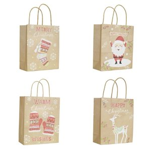 Wholesale kids party favors bags for sale - Group buy 1 Christmas Gift Bags Santa Sacks Kraft Paper Bag With Handle Kids Party Favors Box Christmas Decorations Home Gift Packing