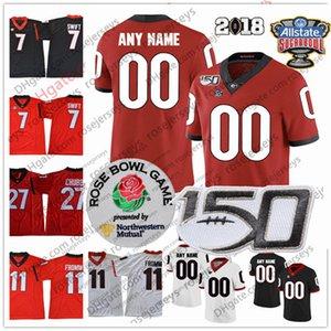 Custom 2020 Geogia Bulldogs Football 11 Jake Fromm 4 James Cook 2 D'wan Mathis 13 Stetson Bennett 15 Carson Beck 34 Walker Jerseys