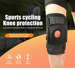 Wholesale plate supports resale online - Professional Sports Knee pad Air permeable outdoor Riding Mountain climbing Spring Double aluminum Plate Support protective gear