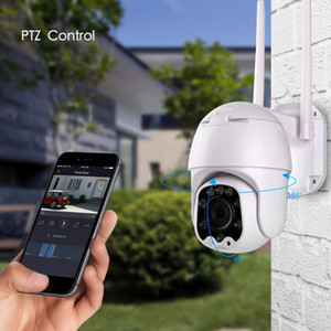 câmeras de segurança com zoom automático venda por atacado-Rastreamento nuvem p Wifi PTZ Camera Outdoor MP Auto CCTV Home Security Camera IP X Digital Zoom Speed Dome Camera Siren Luz