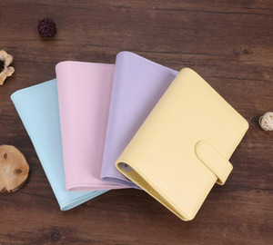 5 Colors A6 Notebook Binder Diary Handbook Shell Multi-function 6 Circle Ring Simple Portable Office Travel Record Book Cases