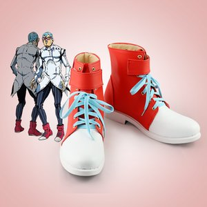 Wholesale jojo shoes resale online - Anime JoJo Bizarre Adventure Cosplay Costume Ghiaccio Shoes Cosplay Costume Blue Trench Full Sets for Women Costume
