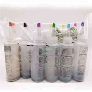 One Step Colorful Tie Dye Kit Permanent Paint Party Supplies Textile Fabric Accessories Decorating Art With Gloves #YL5