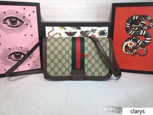 New Vintage Ophidia GGG Maison shoulder bag leather 548304 Studded Shoulder CROSSBODY BAG Web Stripe Shelly Line size:27*16.5*7.5cm