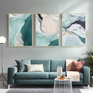 Wholesale painting textures resale online - Watercolor abstract oil painting texture Green Canvas Art Paintings For Living Room Bedroom Posters And Prints Wall Poster Decor