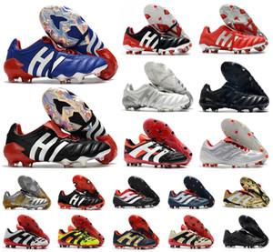 Men Predator 20+ Mutator Mania Tormentor Accelerator Electricity Precision 20+x FG Beckham DB Zidane ZZ soccer shoes cleats football boots