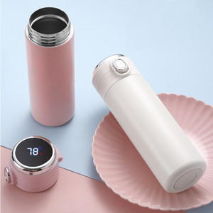 Wholesale cups measurement for sale - Group buy Stainless Steel Thermal Cup Vacuum Flask Intelligent Temperature Measurement Bounce Cups Students Portable Thermos Bottle Cups VT1695