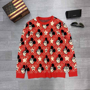 Fall Winter Men's European and American Design Pullover Sweatshirt Men's Loose Sweater Pure Cotton Long Sleeve Medusa Sports Pullover