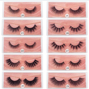 Wholesale lashes extension for sale - Group buy 3D Mink Eyelashes Natural False Eyelashes D Mink Lashes Soft Make Up Extension Makeup Fake Eye Lashes D Series