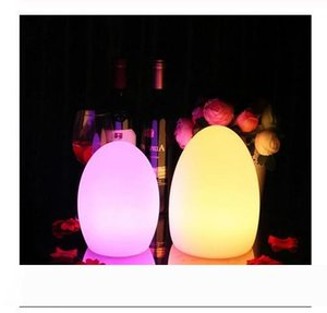 Wholesale egg shaped lamps resale online - Remote Control Waterproof Egg Shape RGB LED Night Lights Rechargeable Indoor Outdoor Home Garden Bar KTV Dining Table Lamp