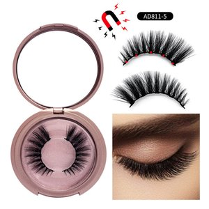 Wholesale 5 magnet for sale - Group buy Magnetic False Eyelashes Glue free Magnets Fake EyeLash Waterproof Liquid Eyeliner Eyelashes Extension Makeup Tools
