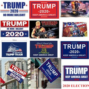 DHL Shipping 2020 Election Trump Flags 90*150cm Polyester Printed Trump Flag Keep America Great Again President Campaign Banner