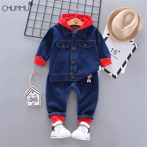 Wholesale clothes for kids for sale - Group buy Autumn Kid Boy Girl Custumes For Boy Girl Clothing Set Casual Long Sleeve Coat Jeans Baby Boys Denim Set Infant Kid Clothes
