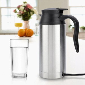 Wholesale electric heated coffee mug for sale - Group buy Stainless Steel V V Electric Kettle ml In Car Travel Trip Coffee Heated Mug Motor Hot Water For Car Truck Use